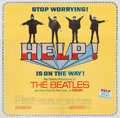 Music Memorabilia:Posters, Beatles Help! Six-Sheet Movie Poster (United Artists,1965)....