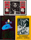 Music Memorabilia:Posters, Joe Cocker/Jack Bruce/Johnny Winter Concert Poster Group (BillGraham, 1969-70).... (Total: 3 Items)