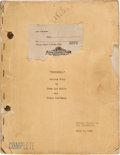 "Movie/TV Memorabilia:Documents, A Script from ""Bombshell.""..."