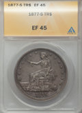 1877-S T$1 XF45 ANACS. NGC Census: (74/1147). PCGS Population (164/1545). Mintage: 9,519,000. Numismedia Wsl. Price for...