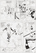 Original Comic Art:Panel Pages, Ron Randall and Randy Elliot Justice League Spectacular #1 Pages 26, 27, and 31 Original Art (DC, 1992).... (Total: 3 )