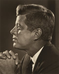 Photographs, YOUSUF KARSH (Canadian, 1908-2002). John F. Kennedy, 1960. Gelatin silver. 9-1/2 x 7-1/2 inches (24.1 x 19.1 cm). Signed...