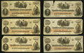 Confederate Notes:1862 Issues, T41 $100 1862, Six Examples.. ... (Total: 6 notes)