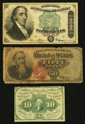 Fractional Currency:First Issue, $1.10 in Fractional.. ... (Total: 3 notes)