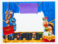 Animation Art:Production Drawing, The Muppets Kermit and Friends Painting (Jim Henson,1990s)....