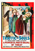 "Movie Posters:Drama, Traffic in Souls (Universal Film Manufacturing, 1913). One Sheet (28"" X 42"").. ..."