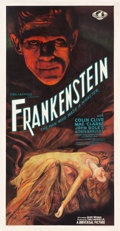 "Movie Posters:Horror, Frankenstein (Universal, 1931). Three Sheet (41"" X 78.5"") Style C.. ..."