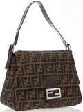 "Luxury Accessories:Bags, Fendi Classic Zucca Monogram Canvas Mama Baguette Bag. Very Goodto Excellent Condition. 11.5"" Width x 8.5"" Height x 4..."