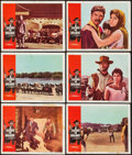 """Movie Posters:Western, A Fistful of Dollars (United Artists, 1967). Lobby Cards (6) (11"""" X 14"""") & Cut Pressbook (12 Pages, 13"""" X 18""""). Western.. ... (Total: 7 Items)"""
