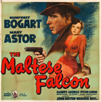"Featured item image of The Maltese Falcon (Warner Brothers, 1941). Six Sheet (80.5"" X 80"").  ..."