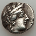 Ancients:Greek, Ancients: ATTICA. Athens. Ca. 454-404 BC. AR tetradrachm (16.88gm). ...