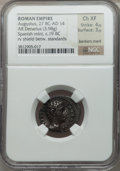Ancients:Roman Imperial, Ancients: Augustus (27 BC-AD 14). AR denarius (3.98 gm). ...