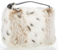 """Luxury Accessories:Bags, Fendi White Lynx Fur Small Tote Bag. Excellent Condition.11"""" Width x 7"""" Height x 3"""" Depth, 2"""" Adjustable HandleDrop..."""