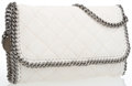 """Luxury Accessories:Bags, Stella McCartney White Quilted Falabella Vegan Leather Bag withGunmetal Hardware. Excellent Condition . 12"""" Width x8..."""