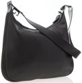 """Luxury Accessories:Bags, Gucci Black Leather Shoulder Bag. Very Good to ExcellentCondition. 14"""" Width x 9.5"""" Height x 2"""" Depth, 17"""" ShoulderD..."""