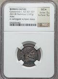 Ancients:Roman Imperial, Ancients: Constantine I the Great (AD 307-337). Æ 3 or BI reducedfollis (2.87 gm). ...