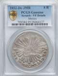 Mexico, Mexico: Republic 8 Reales 1852 Do-JMR VF Details (Scratch) PCGS,...