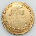 Colombia, Colombia: Charles IV gold 8 Escudos 1807 P-JF F/VF Cleaned,...