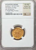 Ancients:Byzantine, Ancients: Justinian I the Great (AD 527-565). AV solidus (4.45gm)....