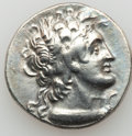 Ancients:Greek, Ancients: PTOLEMAIC EGYPT. Ptolemy IX, with Cleopatra III (firstreign, 116-110 BC). AR tetradrachm (14.11 gm). ...