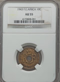 French Equatorial Africa, French Equatorial Africa: French Colony 10 Centimes 1943 AU55NGC,...