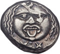 Ancients:Greek, Ancients: ETRURIA. Populonia. 3rd century BC. AR 20 Asses (21mm,8.09 gm)....