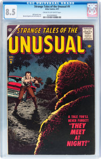 Strange Tales of the Unusual #9 (Atlas, 1957) CGC VF+ 8.5 Cream to off-white pages