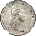 German States:Saxony, German States: Saxony. Friedrich August I Taler 1813-IGS MS65 NGC,...