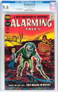 Golden Age (1938-1955):Horror, Alarming Tales #3 (Harvey, 1958) CGC NM 9.4 Off-white to whitepages....