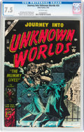 Golden Age (1938-1955):Horror, Journey Into Unknown Worlds #24 (Atlas, 1954) CGC VF- 7.5 Off-whitepages....