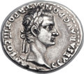 Ancients:Roman Imperial, Ancients: Caligula, with Divus Augustus (AD 37-41). AR denarius (18mm, 3.74 gm, 8h). ...