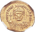 Ancients:Byzantine, Ancients: Justinian I the Great (AD 527-565). AV solidus (21mm,4.34 gm, 7h)....
