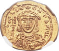 Ancients:Byzantine, Ancients: Constantine V Copronymus (AD 741-775), with Leo III. AVsolidus (21mm, 4.45 gm, 6h)....