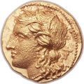 Ancients:Greek, Ancients: SICILY. Syracuse. Hieron II (274-215 BC). AV hemistater or drachm (17mm, 4.28 gm, 7h). ...