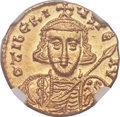 Ancients:Byzantine, Ancients: Tiberius III Apsimar (AD 698-705). AV solidus (20mm, 4.43gm, 6h). ...