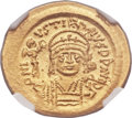 Ancients:Byzantine, Ancients: Justin II (AD 565-578). AV solidus (21mm, 4.50 gm,7h). ...