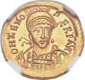 Ancients:Roman Imperial, Ancients: Zeno, Eastern Roman Emperor (AD 474-491). AV solidus(21mm, 4.48 gm, 6h). ...
