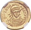 Ancients:Roman Imperial, Ancients: OSTROGOTHIC ITALY. Odovacer or Theodoric the Great (AD 493-526). AV solidus (21mm, 4.47 gm, 6h). ...