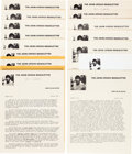 Books:Prints & Leaves, John Updike. Ephemera Collection. Including: three broadsides.[Various Publishers, Various Dates]. (Full Forty Years...,...