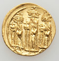 Ancients:Byzantine, Ancients: Heraclius (AD 610-641), with Heraclius Constantine andHeraclonas.  AV solidus (4.48 gm). ...