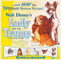 "Movie Posters:Animation, Lady and the Tramp (Buena Vista, 1955). Six Sheet (81"" X 81"").. ..."