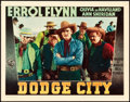 "Movie Posters:Western, Dodge City (Warner Brothers, 1939). Lobby Card (11"" X 14"").. ..."