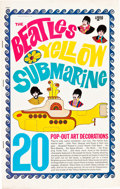"Movie Posters:Animation, Yellow Submarine (King Features-Subafilms LTD, 1968). Pop-OutDecoration Book (9 Pages, 9.5"" X 15"").. ..."