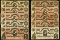 Confederate Notes:1864 Issues, T65 $100 1864 Fifteen Examples.. ... (Total: 15 notes)