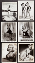 "Movie Posters:Miscellaneous, Marilyn Monroe in The Asphalt Jungle & Others Lot (MGM, 1950).Photos (6) (7.5"" X 9.25"" & 8"" X 10"").. ... (Total: 6 Items)"