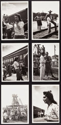 """Movie Posters:Drama, Giant (Warner Brothers, 1956). Behind the Scenes Photos (12) (3.5""""X 3.5"""" & 5"""" X 7"""").. ... (Total: 12 Items)"""
