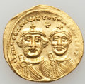 Ancients:Byzantine, Ancients: Heraclius (AD 610-641), with Heraclius Constantine. AVsolidus (4.44 gm)....