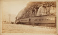 Books:Photography, Antique Albumen Photograph Depicting a Train in Motion. No date, circa 1880s. Measures 8.5 x 5.25 inches. Some thumbsoiling ...