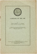 Books:Science & Technology, R. E. Peary. Command of the Air. Reprinted from The Annals of the American Academy of Political and Social Science...