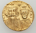Ancients:Byzantine, Ancients: Constans II Pogonatus (AD 641-668), with Constantine IV.AV solidus (4.42 gm). ...